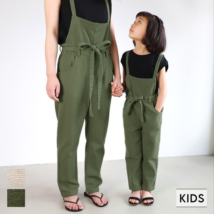 子供服 サロペット ウエストリボン | coca | 詳細画像1