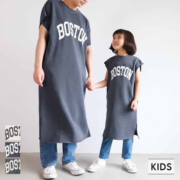 子供服 ワンピース ロゴスウェット   coca   詳細画像1
