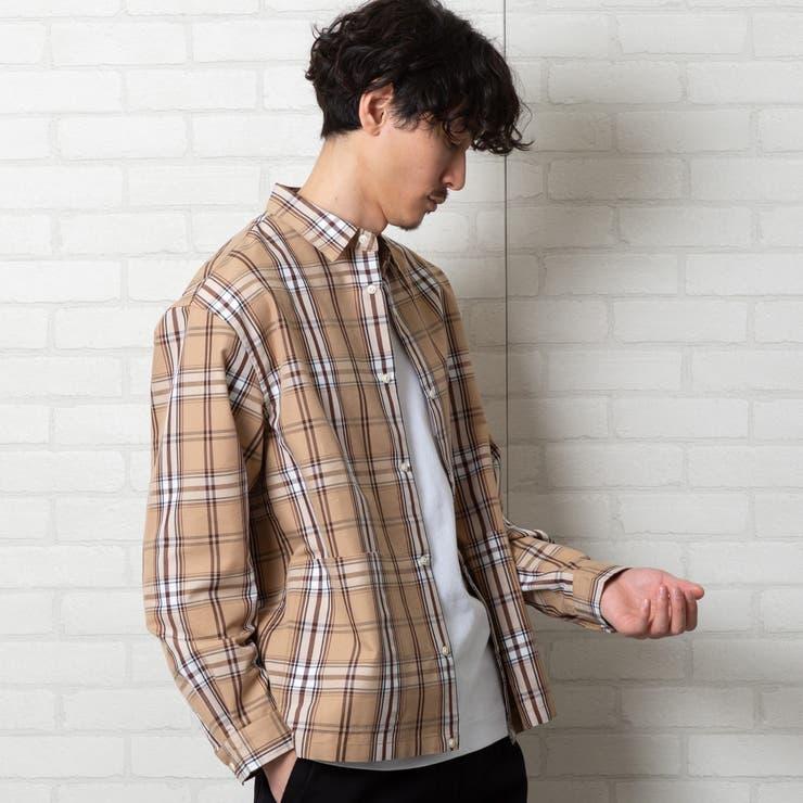 チェックスナップボタンシャツジャケット#   coen OUTLET   詳細画像1