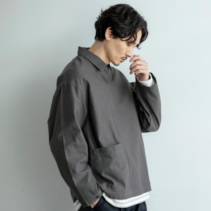ミリタリーロングプルオーバーシャツ | coen【men】 | 詳細画像1