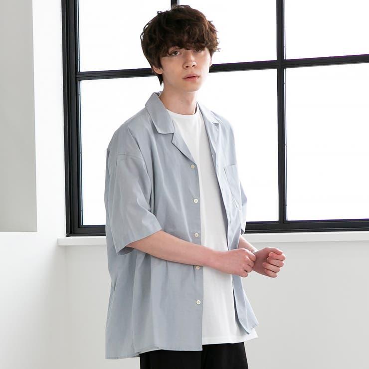 ハケメオープンカラーショートスリーブシャツ   coen【men】   詳細画像1