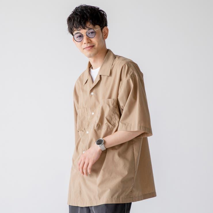 TCリップストップオープンカラーショートスリーブシャツ | coen【men】 | 詳細画像1