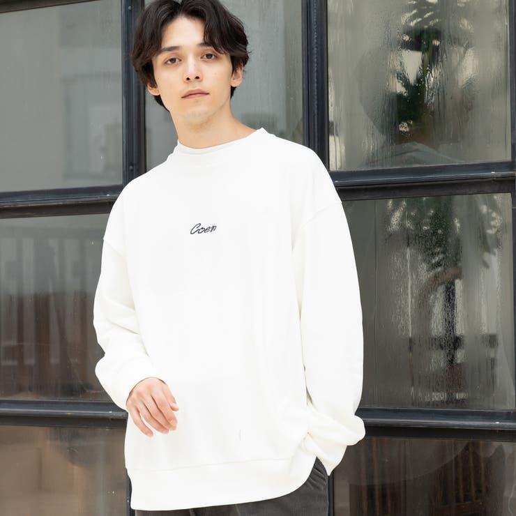 コーエンロゴ刺繍裏毛クルーネックスウェット | coen【men】 | 詳細画像1