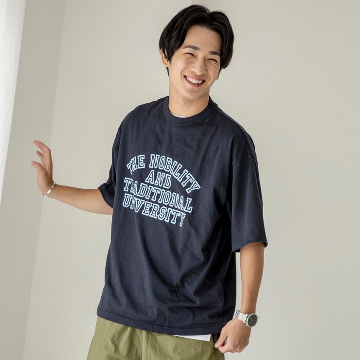 スラブ天竺カレッジプリントTシャツ | coen【men】 | 詳細画像1