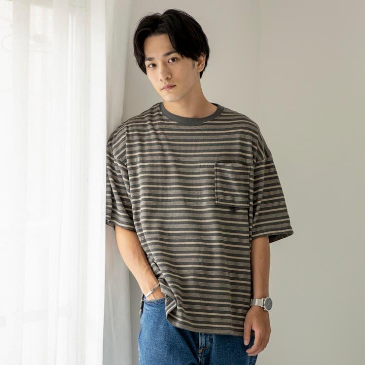 ヘンケイ天竺ボーダーTシャツ | coen【men】 | 詳細画像1