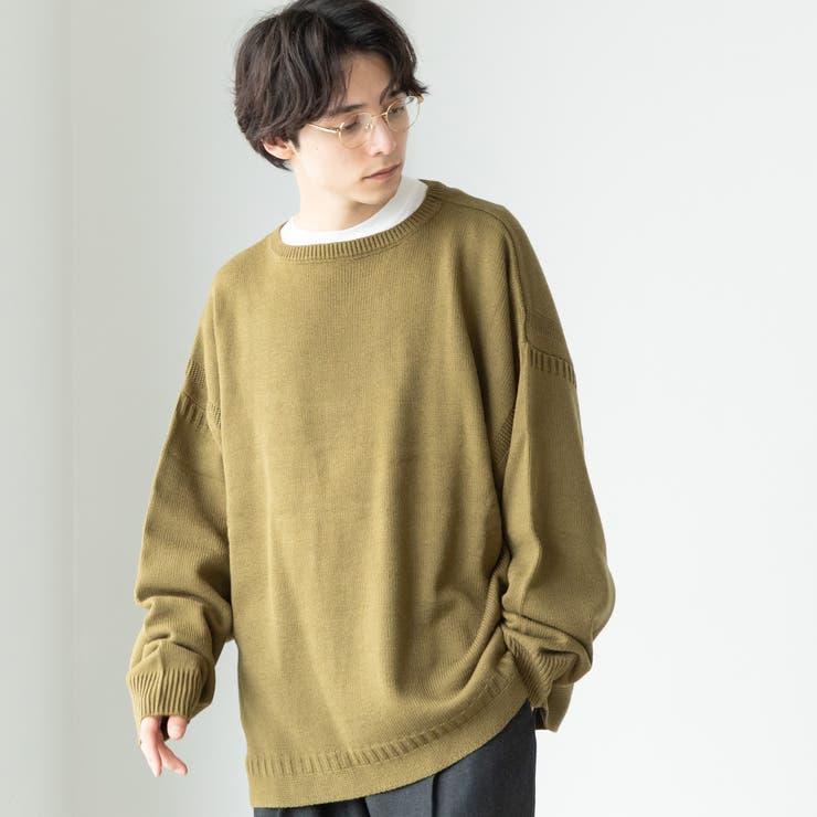 ビッグシルエットガンジークルーネックニット   coen【men】   詳細画像1