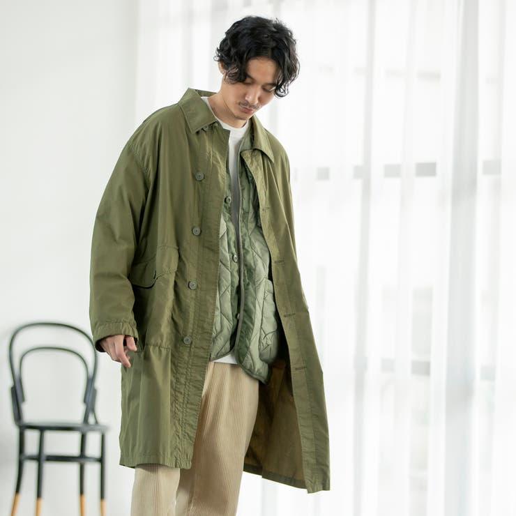 ミリタリーステンカラーコート   coen【men】   詳細画像1