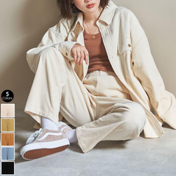【WEB限定サイズ(XL)】コーデュロイシェフパンツ#   coen【women】   詳細画像1