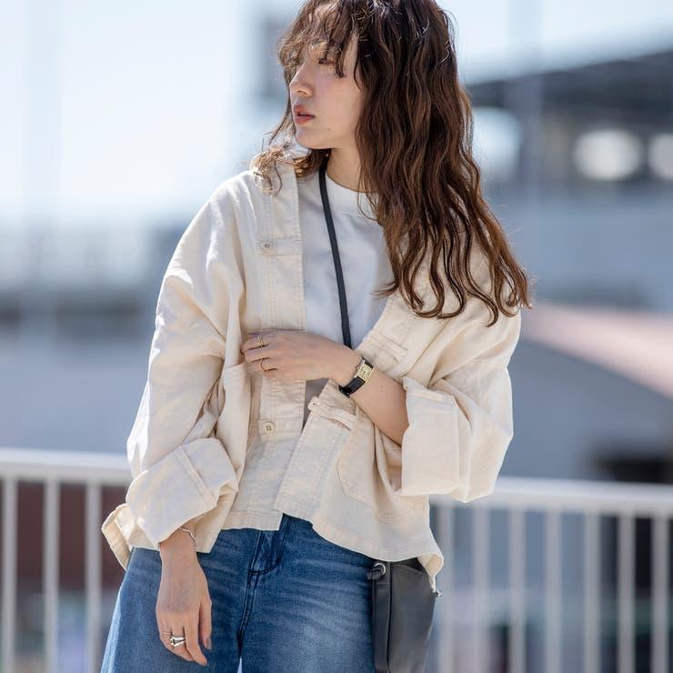 UVカット機能付きリネンブレンドチャイナジャケット   coen【women】   詳細画像1