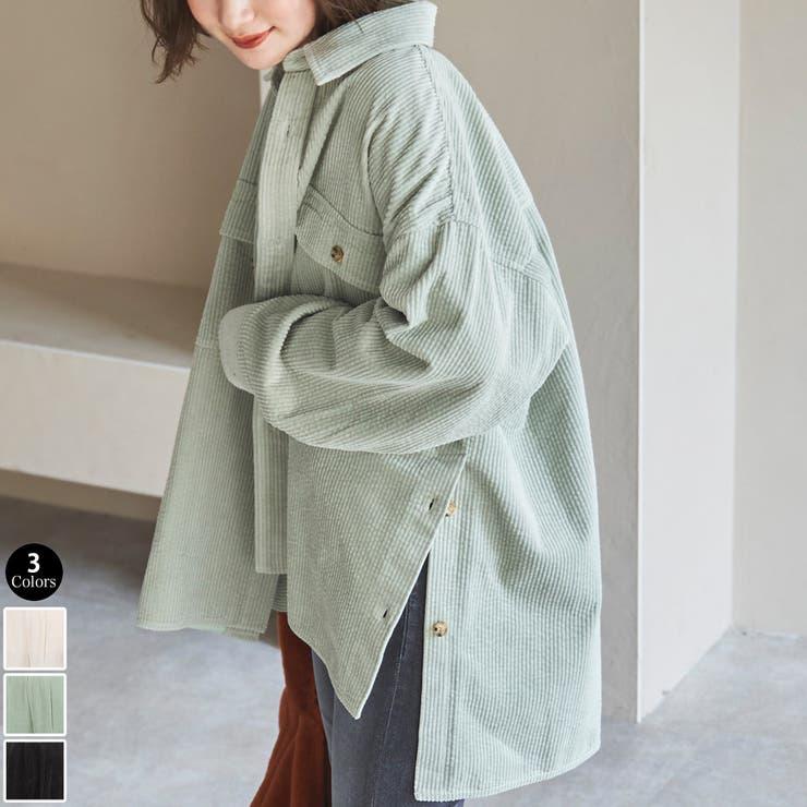 【セットアップ対応可能】サイドベンツコーデュロイCPOシャツジャケット   coen【women】   詳細画像1