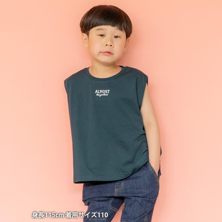 【coen キッズ/ジュニア】刺繍ノースリーブTシャツ   coen【kids】   詳細画像1