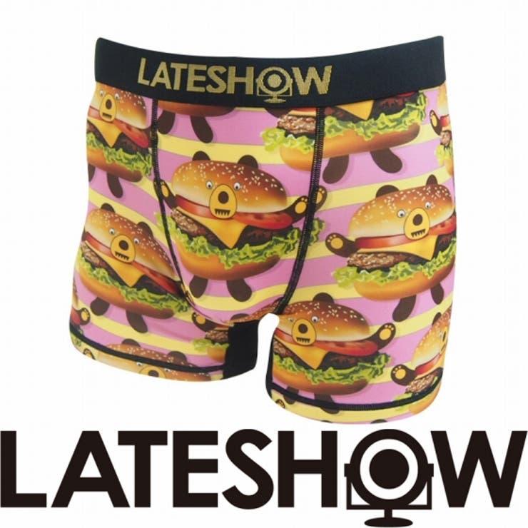 LATESHOW ボクサーパンツ Burger bear