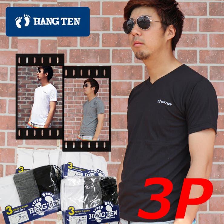 HANGTENハンテン3PTシャツセット Vネック クルーネック | COMPLETE | 詳細画像1