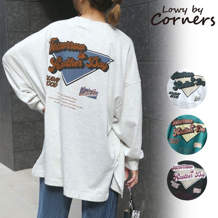 バッグロゴプリントビックTシャツ ロンT Tシャツ | CORNERS  | 詳細画像1