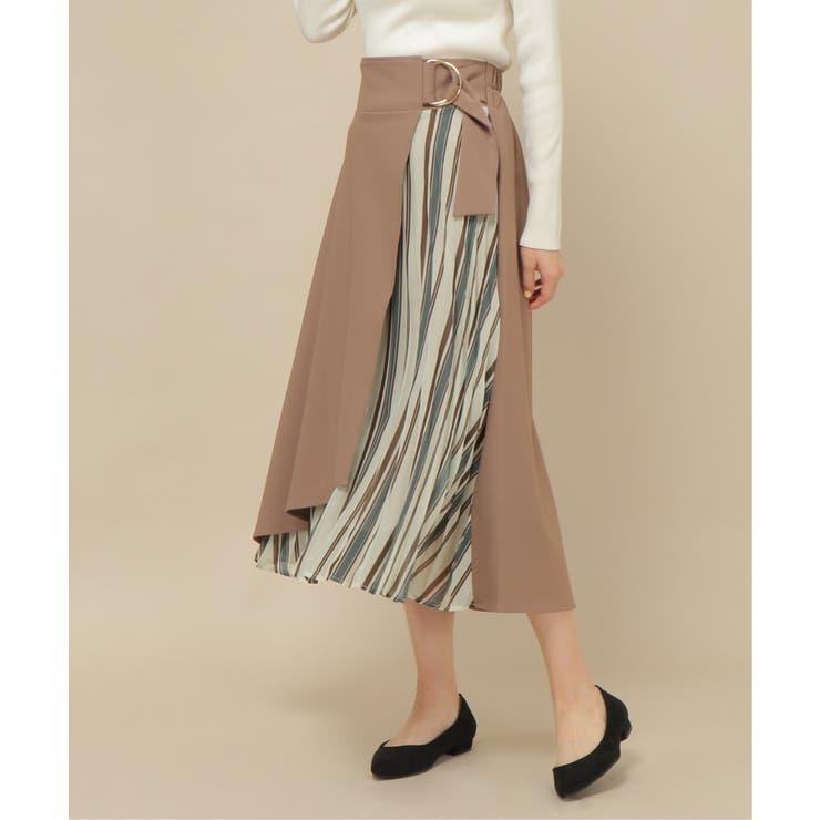 切り替えプリーツスカート | ikka  | 詳細画像1