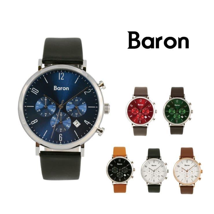 Baron 時計 アナログ メンズ クロノグラフ