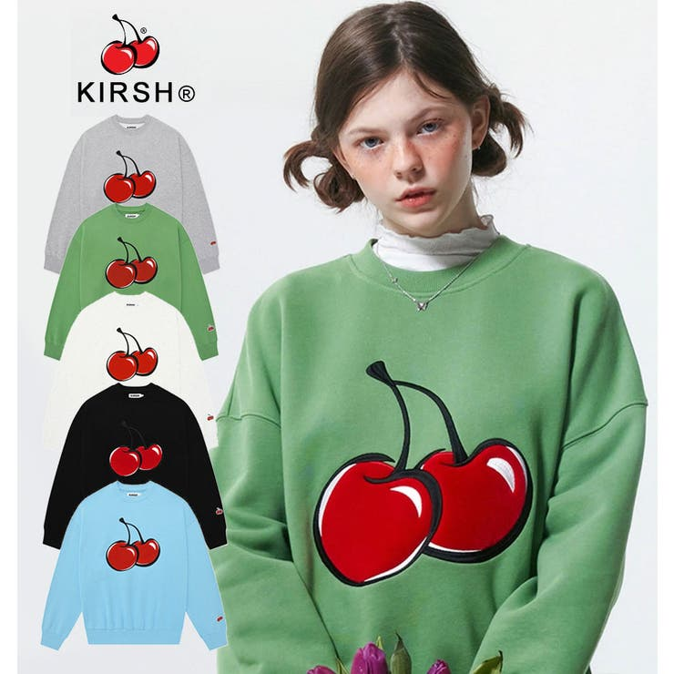 韓国ファッション公式KIRSHキルシーKIRSHBIGCHERRYSWEATSHIRT/ビッグチェリースウェット/GRY(グレー)/GYM | 詳細画像