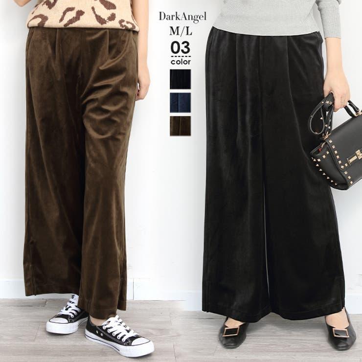 韓国ファッション ワイドパンツ フレアパンツ   DarkAngel   詳細画像1