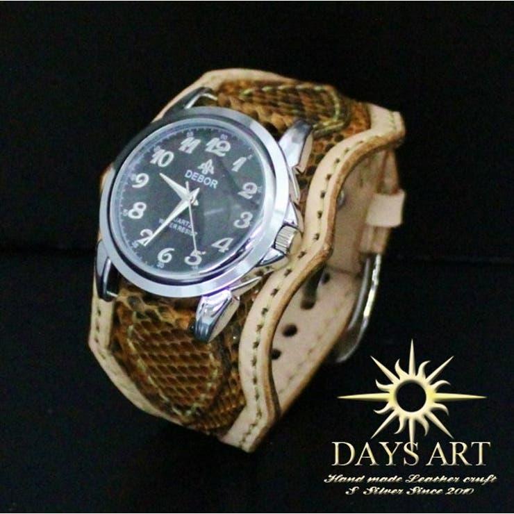 ■wc010-br■時計 メンズ レディース 腕時計 レザーブレスレットウォッチ 牛革ベルト×ヘビ革 ダイヤモンドパイソンスキン