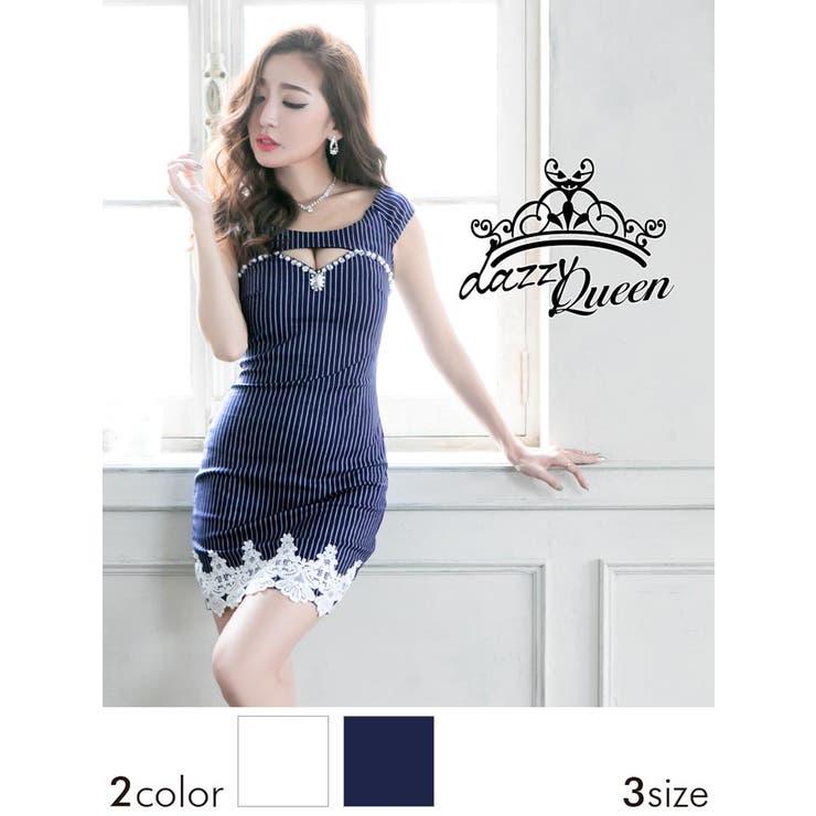 �h���X �L���o��[SM�`ML�T�C�Y]�r�W���[&�p�[���t�J�ԃz�[���X�g���C�v���I�t�V�����_�[�^�C�g�~�j�h���X[dazzyQueen]��[���R���ߌb][����]�p�[�e�B�[�h���X/�����s�h���X[�X�g���C�v�� ���m�g�[��][���f�B�[�X ladies dress ��l][3�T�C�Y�W�J]