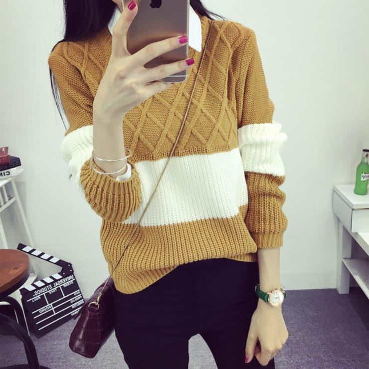 ★トレンドファッション♪切替デザインセーター★2016秋冬新作
