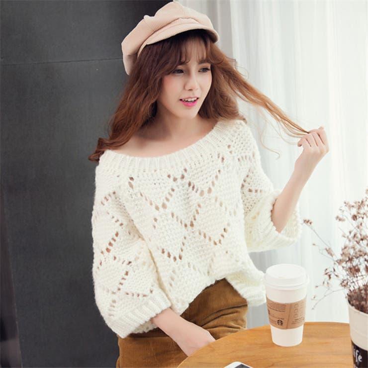 ★トレンドファッション♪ドルマン袖アーガイル編みセーター★2016秋冬新作