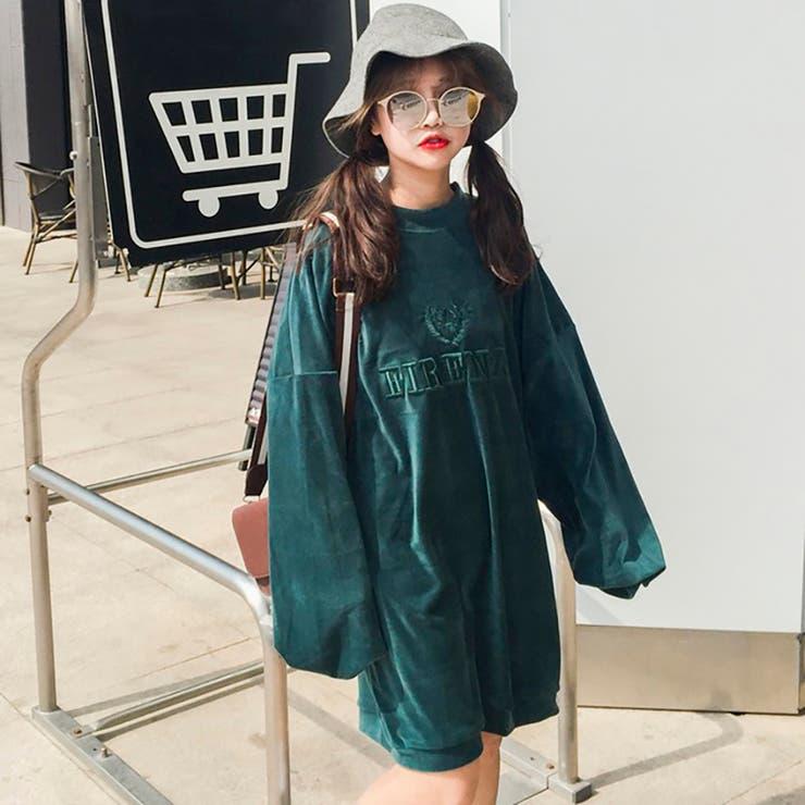 ★トレンドファッション♪英字デザインチュニック★2016秋冬新作 トップス 韓国ファッション
