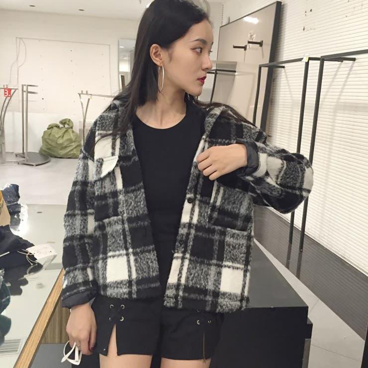 ★トレンドファッション♪チェック柄襟付ジャケット★2016秋冬新作
