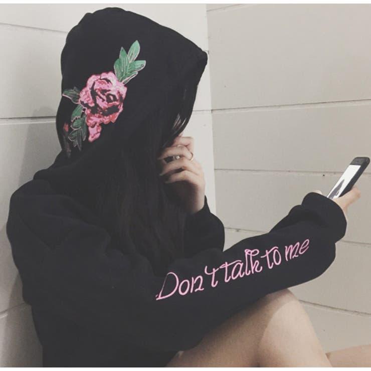 ★トレンドファッション♪花柄プリントパーカー★2016秋冬新作 裏起毛 トップス 韓国ファッション アウター