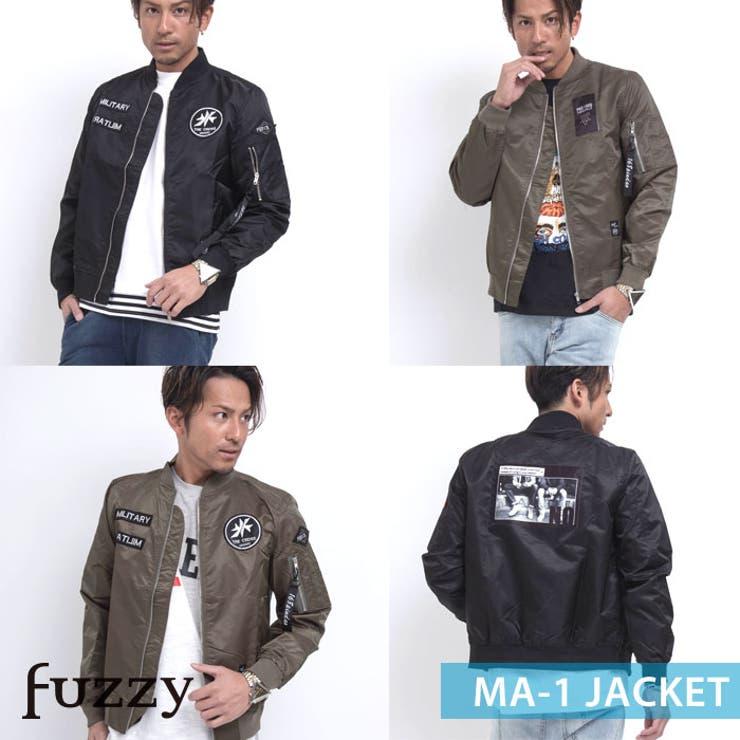 ナイロンMA 1ジャケット ビター系 | fuzzy | 詳細画像1