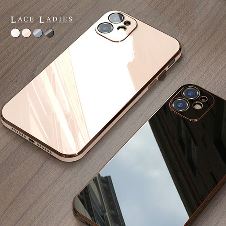 シンプル iPhone12 ケース | レースレディース  | 詳細画像1