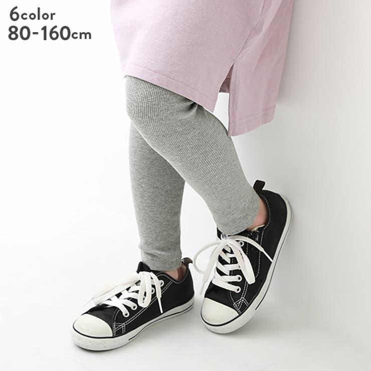 リブレギンス 子供服 キッズ ベビー 女の子 靴下・タイツ・レギンス   devirock   詳細画像1