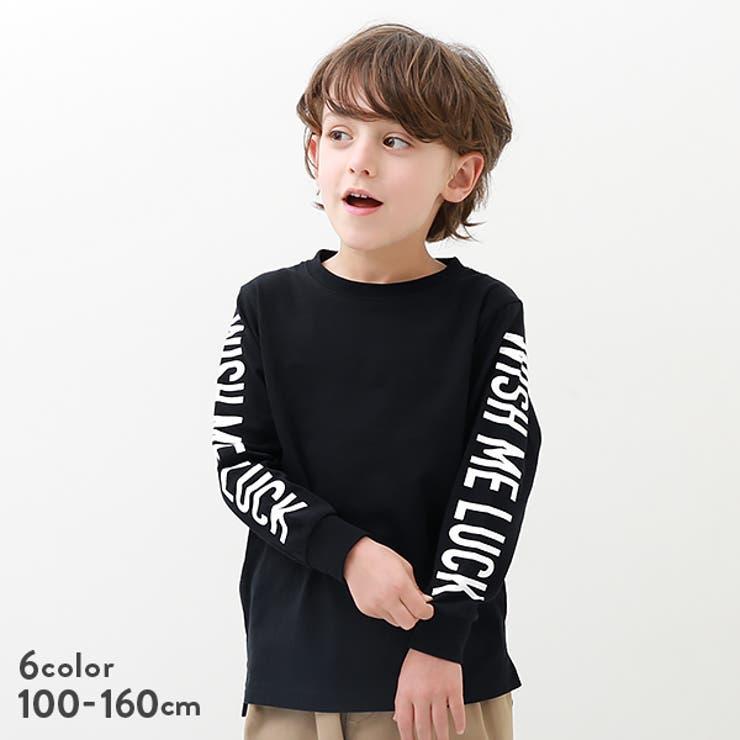 袖プリント長袖Tシャツ 子供服 キッズ | devirock | 詳細画像1