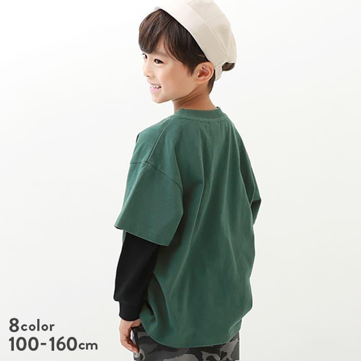 レイヤード風長袖Tシャツ 子供服 キッズ | devirock | 詳細画像1