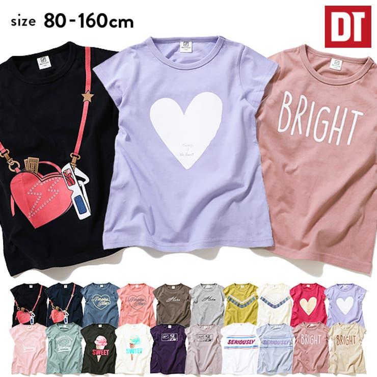 デビラボチュニックTシャツ女の子半袖半そでトップスTシャツ全20色80-160 | 詳細画像