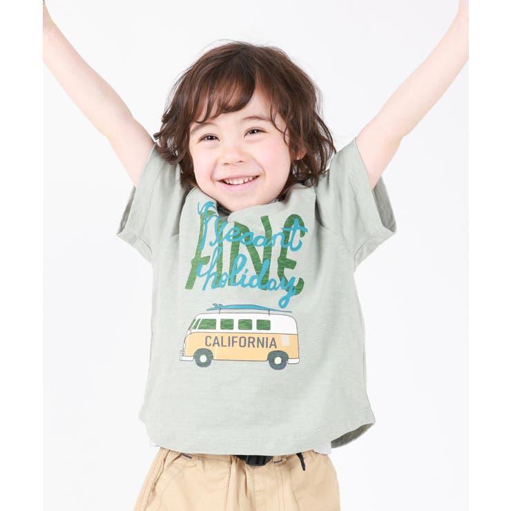サーフボード乗せ車Tシャツ   DILash BABY & KIDS SHOP   詳細画像1