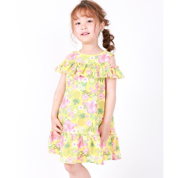 肩開き2WAY花柄ワンピース | DILash BABY & KIDS SHOP | 詳細画像1