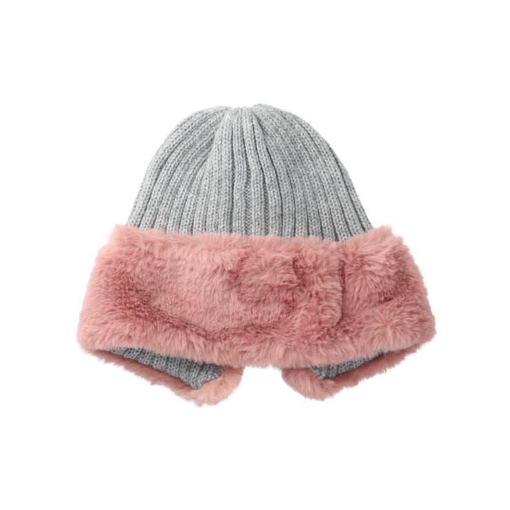 ファーきりかえニット帽   DILash BABY & KIDS SHOP   詳細画像1
