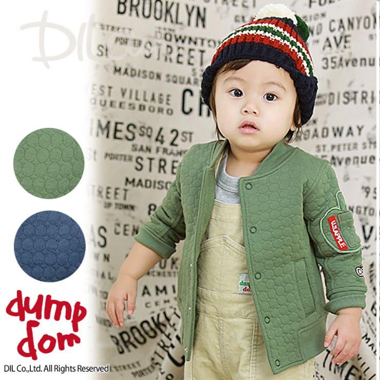 ニットキルトミリタリージャケット/dumpdom(ダンプドム)秋 ベビー 赤ちゃん 男の子