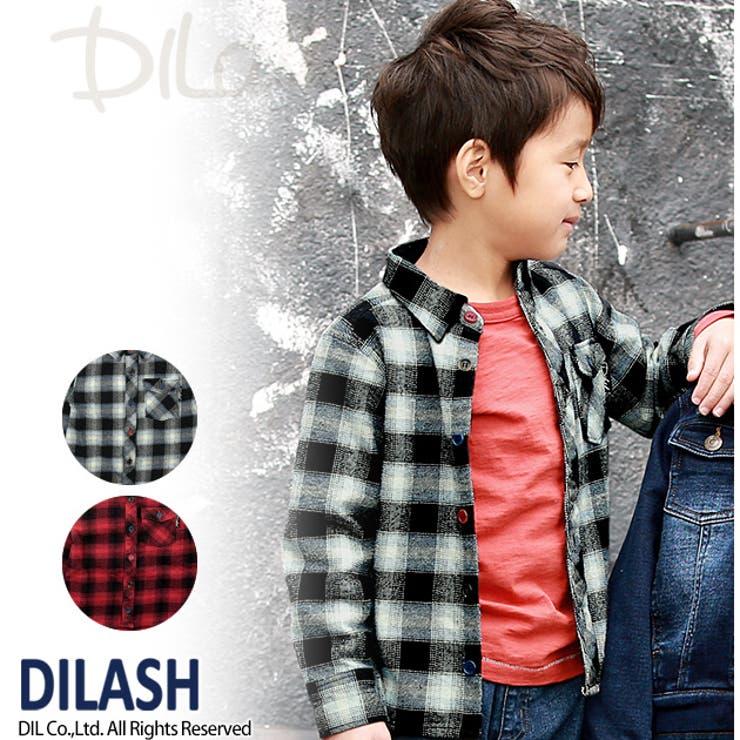 チェック柄長袖ネルシャツ/DILASH(ディラッシュ)秋 ベビー キッズ 男の子