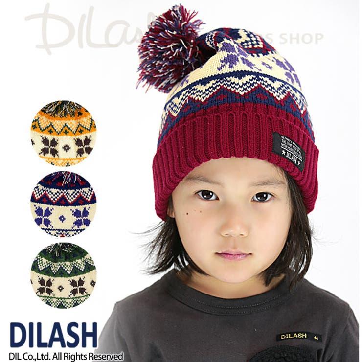 ノルディック柄ニット帽★カタログ掲載商品★/DILASH(ディラッシュ)秋/ニット