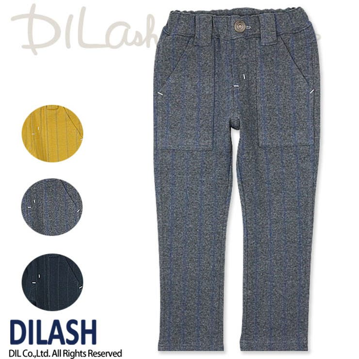ストライプインレイパンツ/DILASH(ディラッシュ)秋