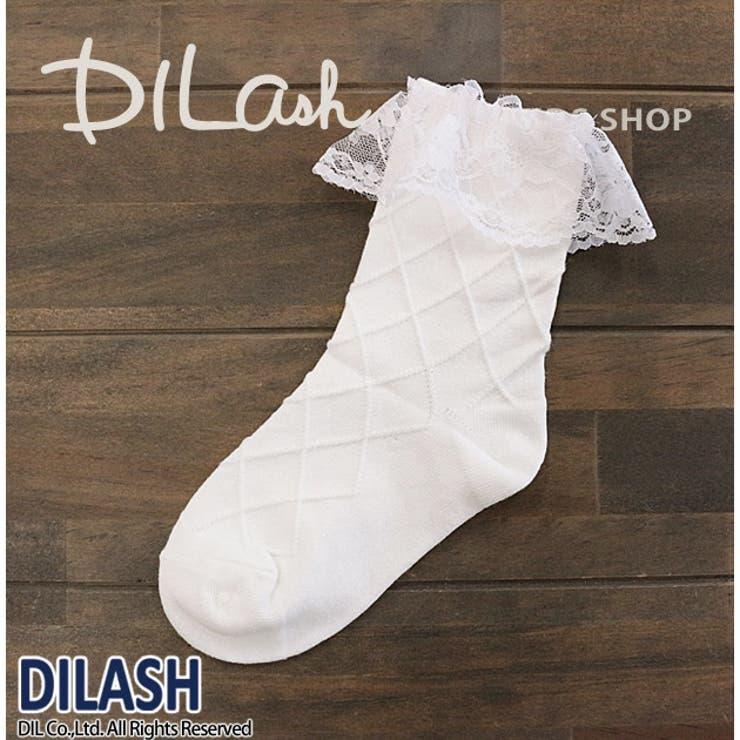 クルーソックス(レース)/DILASH(ディラッシュ)秋/靴下