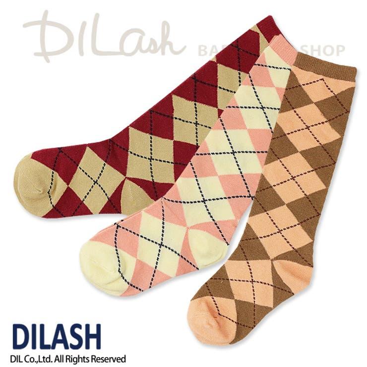 ハイソックス(アーガイル)/DILASH(ディラッシュ)秋/靴下
