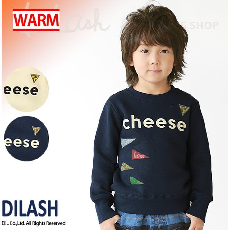 裏毛起毛Cheeseトレーナー★赤すぐ・カタログ掲載商品★/DILASH(ディラッシュ)冬 裏起毛 トレーナー