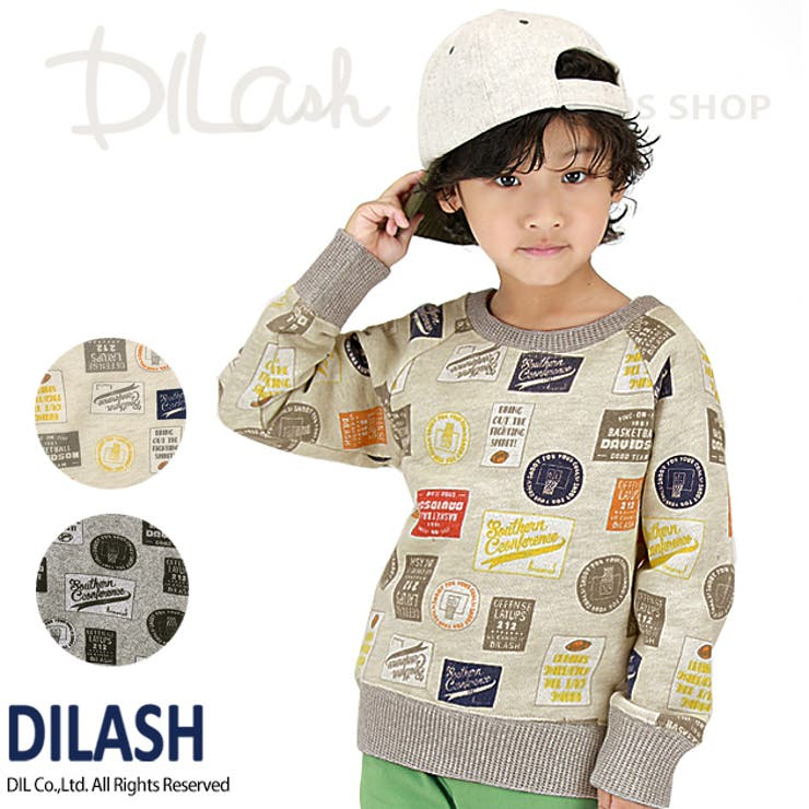 ロゴ総柄トレーナー/DILASH(ディラッシュ)冬 トレーナー