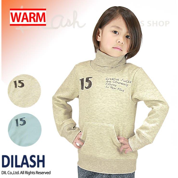 タートルネックトレーナー/DILASH(ディラッシュ)冬 裏起毛 トレーナー/ハイネック