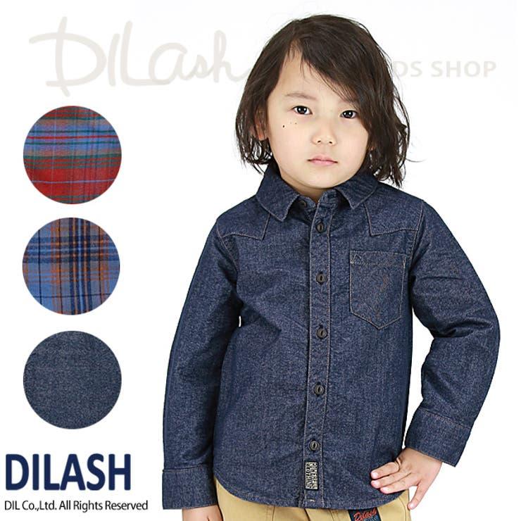 先染めチェック柄長袖シャツ/DILASH(ディラッシュ)冬 起毛 シャツ