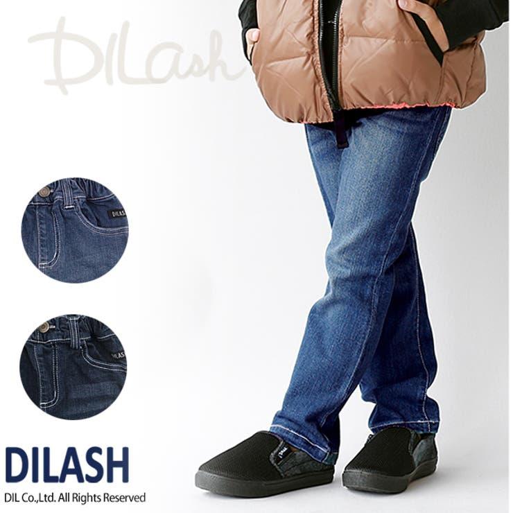 ビンテージ加工色落ちストレッチデニムパンツ/DILASH(ディラッシュ)冬 パンツ ストレッチ