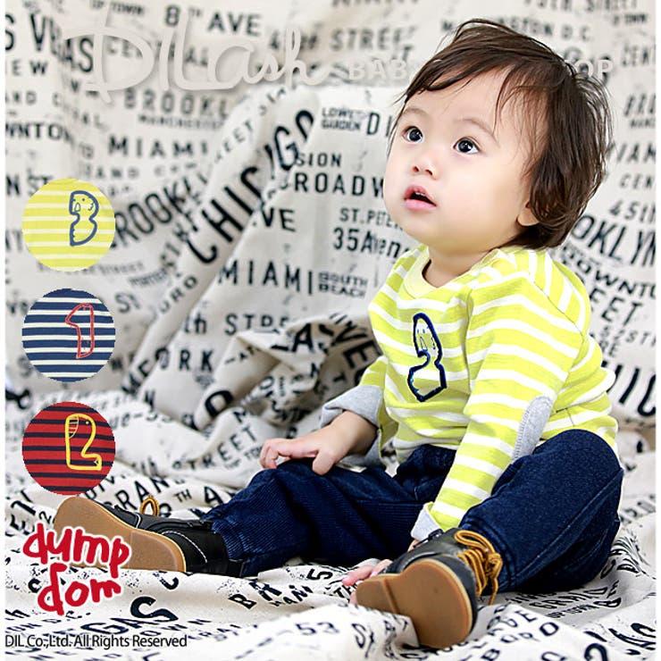 ボーダー長袖Tシャツ/dumpdom(ダンプドム)秋 ベビー 赤ちゃん 男の子